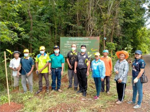 กิจกรรมปลูกป่าชุมชน ณ.ป่าชุมชน หมู่ 13 อบต.โนนสุวรรณ ร่วมกับ กำน